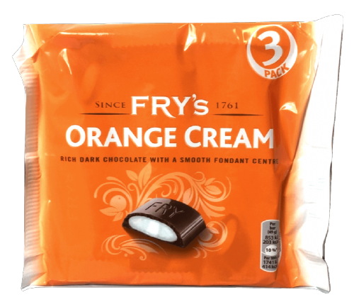 FRY'S CHOCOLATE ORANGE CREAM BAR 3PK x18